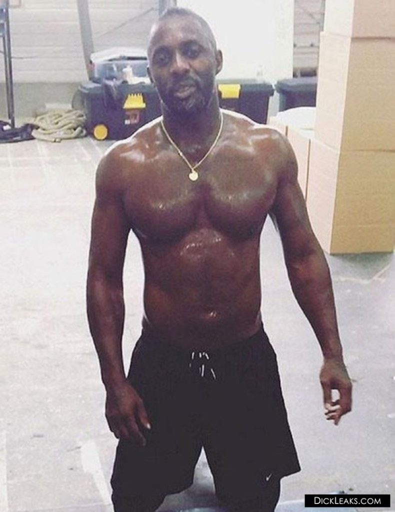 Idris Elba jerking off